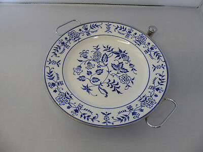 Vintage Made in Germany Blue and White Warming Dish