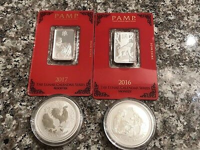 Silver Lunar Bars And Coins *All Offers Are Welcome*