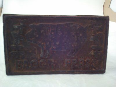 Bacon Press Cast Iron, Possible Vintage, Made in Taiwan