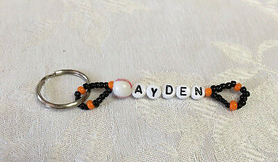 AYDEN personalized beaded keychain-NEW-Hand made