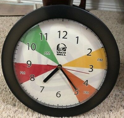 Vintage Taco Bell Wall Clock Working Condition