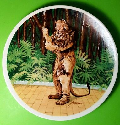 """The Wizard of Oz - Cowardly Lion """"If I Were King"""" 1978 Knowles Collectors Plate"""