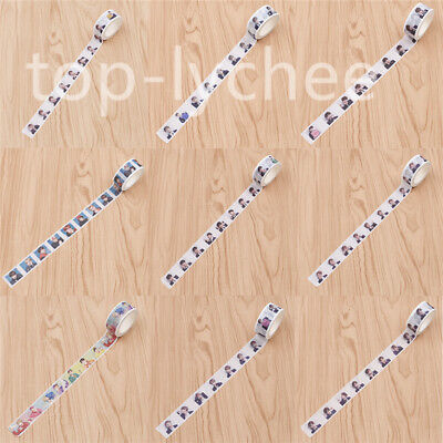 BTS DIY Scrapbooking Stickers KPOP Craft Masking Washi Tape Diary Album Decor