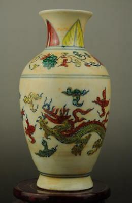 Chinese antique famille rose porcelain dragon pattern vase /chenghua mark b02