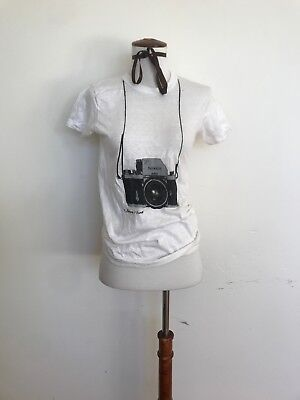 Super Rare Vintage 1960s T-Shirt Nikon Camera By Fortune T-Shirts