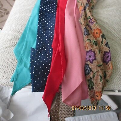 #26-LOT OF 5 -classic western scarf ties ,Perfect for square dance outfits, .