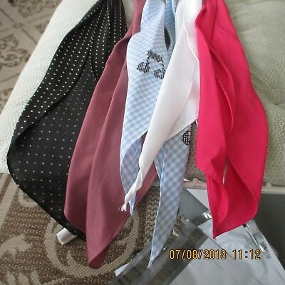 #5- LOT OF 5-classic western scarf ties ,Perfect for square dance outfits,