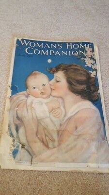 Woman's Home Companion Antique 1918 Magazine Huck Finn Cream of Wheat ad