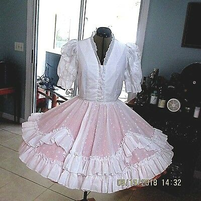 "-SQUARE DANCE DRESS,size small ,UNDERARM 19 ""WAIST, 26 FIXED"",21"" LONG #xx"