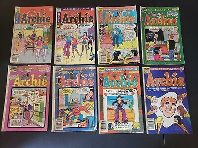 ARCHIE COMICS GROUP Archie Comic Lot of Bronze Age 8#278-314-316-322-323-324-331