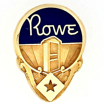 PRICE REDUCED Very Rare Vtg Rowe Vending 14K Gold Employ Service Award Lapel Pin