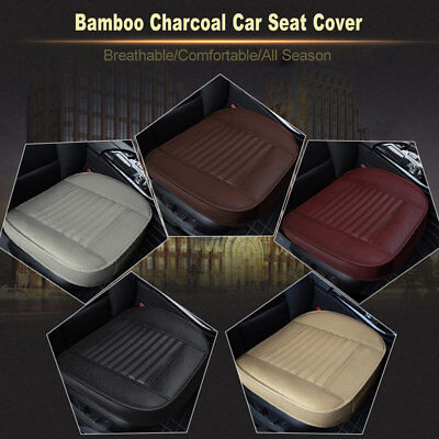 3D PU Leather Car SUV Seat Cover Breathable Bamboo Charcoal Comfortable Cushion