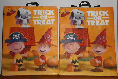 2 the peanuts movie charlie brown snoopy trick or treat halloween safeway bags