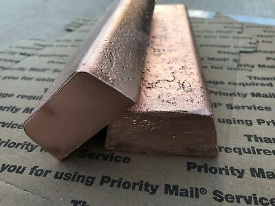 2 Copper Ingot Bars 15 Lb Total Pounds Bullion Investment Bulk Hand Poured Cu