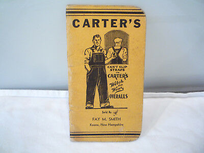 1943-44 Carter's Watch the Wear Work Clothes Overalls, Fay Smith, Keene, NH