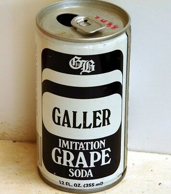 Galler Grape; Galler Beverages, Inc.; Hackensack, NJ; Steel Soda Pop Can