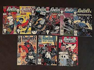 THE PUNISHER Comic Lot of 9 - Volume 2, War Journal, War Zone - JIM LEE, ROMITA!