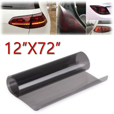 Black Light Auto Smoke Taillight Headlight Tint Vinyl Sheet Film Sticker US