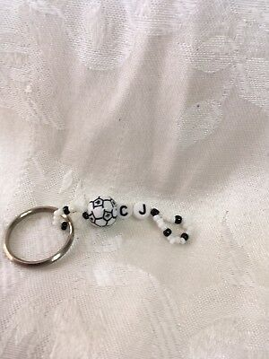 CJ men or boys personalized keychain-NEW-Handmade