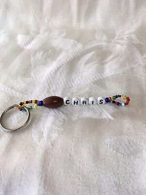 CHRIS (football) men or boys personalized keychain-NEW-handmade