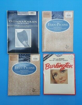 Lot Of Four (4) Vintage PANTYHOSE TIGHTS Size SMALL Mixed Colors NOS