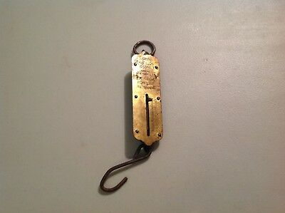Vintage John Chatillon & Sons 50 Pound Brass Spring Hanging Scale Made In USA