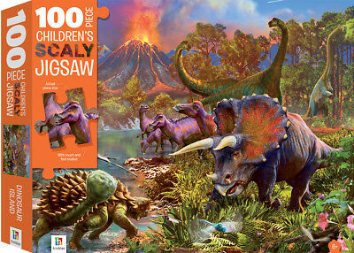 Hinkler - Dinosaur Island Children's Scaly Jigsaw Puzzle 100 Pieces