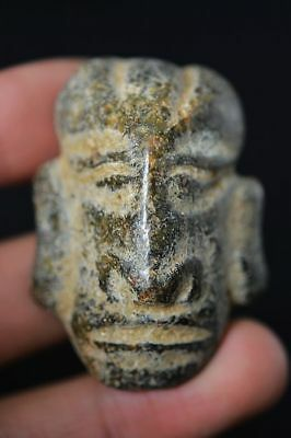 Chinese Hongshan Culture old Jade Carved *people face* Amulet Pendant  F65