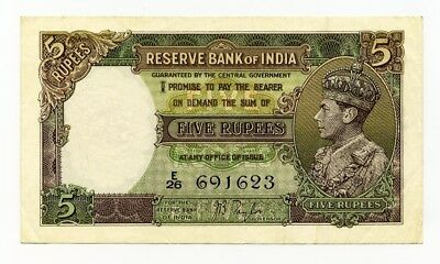 Five 5 Rupees Reserve Bank Of India Very Nice