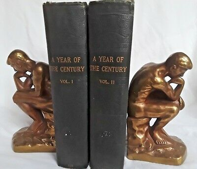 Antique! Lot of Two A Year Of The Century Magazine Bound Volumes 1910-1911 NR