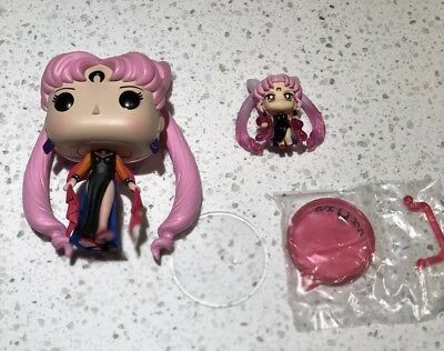 Sailor Moon Megahouse Petit Chara Black Lady + Funko POP Black Lady Gift