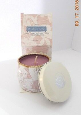 AVON 1987 Pearls & Lace Prefused Candle with Box & Insert