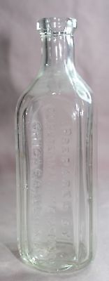 Antique /Vintage  Dr. Peter Fahrney & Son Medicine Bottle Embossed Chicago. Ill.
