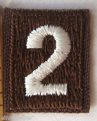 Girl Scout brown Brownie number 2 patch **NEW**