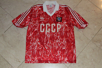 e42f244fa17 Vintage adidas CCCP 80's National Soccer Team Jersey Home Shirt Men's 42-44  L