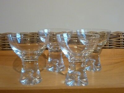 "Set of 4 ""TAPIO"" Sherry Glasses Designed by Tapio Wirkkala  --  Made in Finland"