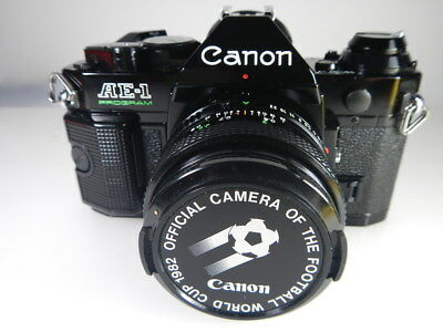 Canon Ae-1 Program Black Magic Official Camera Footbal World Cup 1982 Like New