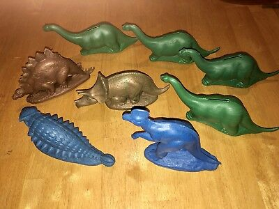 Lot of 8 Vintage Sinclair Dinoland Dinosaurs Gas Station Mold-A-Rama Worlds Fair