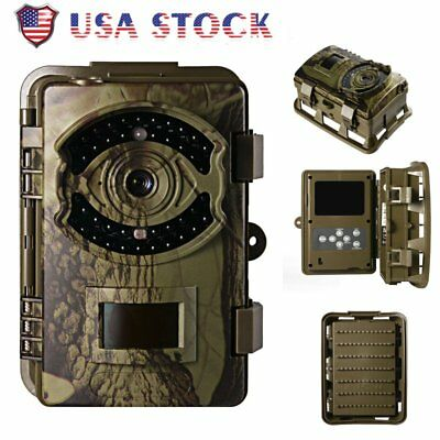 "Game Trail Hunting Camera 16MP 1080P FHD Infrared Night Vision 2.4"" Screen US OY"