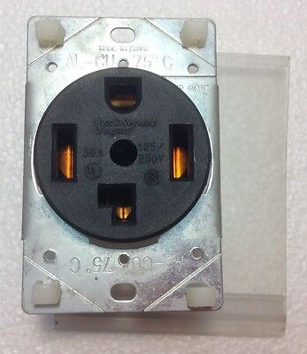 Pass&Seymour Legrand 3864 Dryer Outlet Receptacle 30A 125/250v Flush Mount 3P 4W