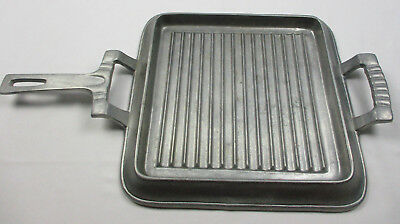 Wilton Armetale Grillware Square Griddle with Handles Camping Grill Used Once