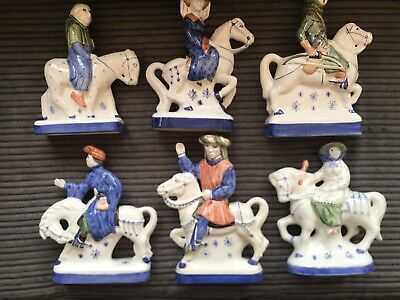 Rye Pottery Chaucer's Canterbury Tales Figures Choice Of 4 Gloss Figurines