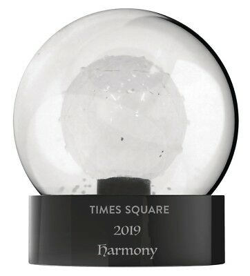 NEW Waterford Crystal Times Square 2019 Harmony Snowglobe 13cm