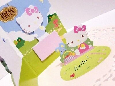 Hello Kitty Sticky Notes 3D Memo Pad Pop-Up Sanrio Bookmark Kawaii Cute Gift New