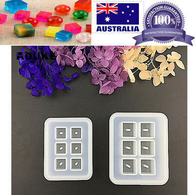 DIY Silicone Mould Cube Pendant Making Mold Resin Necklace Jewelry 6 Cubes Craft