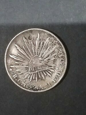 1892 8 reales mexico piece of 8