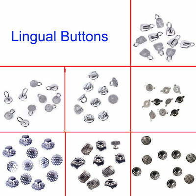 Dental Orthodontic Lingual Buttons Bondable MIM Traction Hook Round/Rectangular