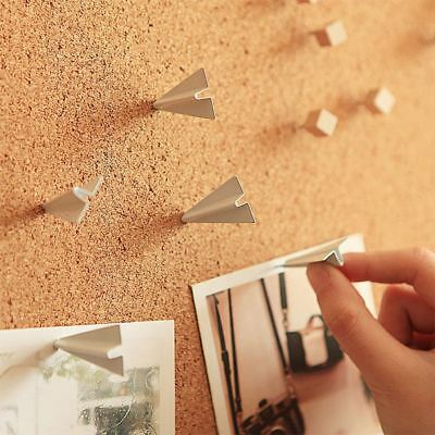 Cork Board Pins Corkboard Pinboard Notice Large Memo Photos Wooden Wall 45x45cm