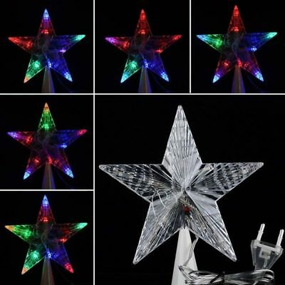 Large Clear Christmas Tree Topper Star Lights Lamp Decoration For Parties Props