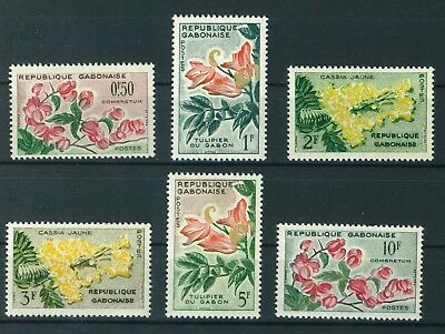Gabon 1991 Flowers complete set of stamps. Mint & never hinged.